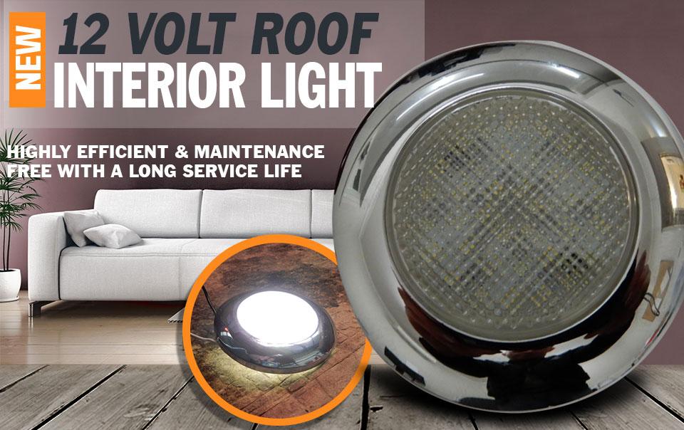 12V LED Interior Light Round Ceiling Roof