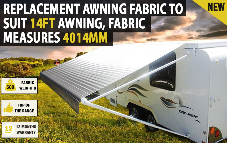New 14 Ft Replacement Caravan Roll Out Awning Pvc Vinyl