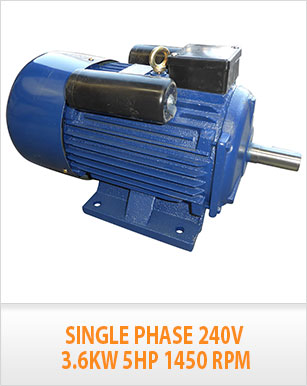 New single phase 240v 5hp electric motor single phase 1450 for 1 hp motor capacitor rating