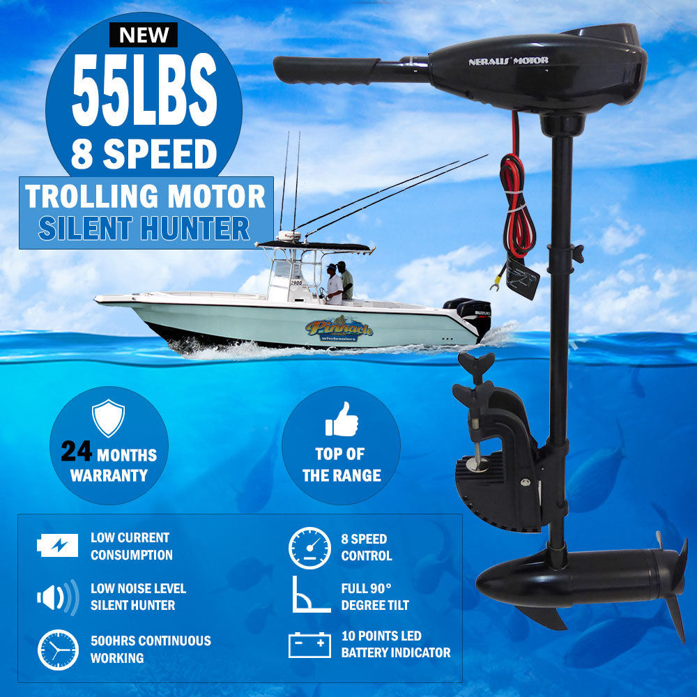 New 86lbs 8 Speed Trolling Motor Electric Inflatable Boat
