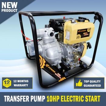 NEW DIESEL 3 Inch High Flow Water Transfer Pump 10HP H-Power Key Start