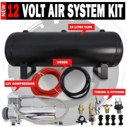 Air Compressor 9.5L Tank kit 12V Airbag, Tyre Inflator 120Psi 1.75Cfm