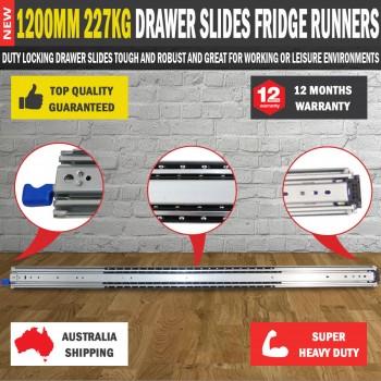 2 X1200MM 227kg Drawer Slides Fridge Runners Heavy Duty 4X4 4WD Ball Bearing
