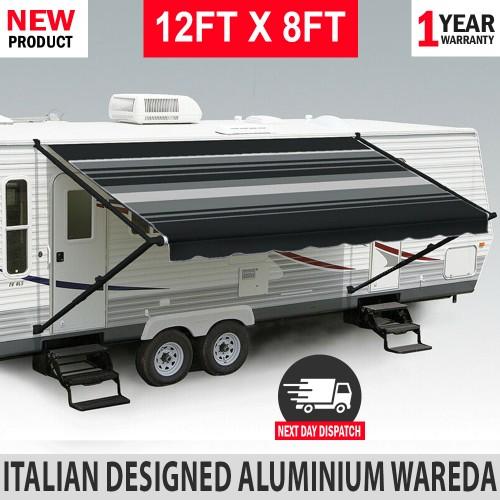 Caravan Awnings & Accessories : 12FT X 8FT Caravan Black ...