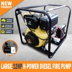 DIESEL WATER PUMP 12HP HIGH VOLUME FIRE FIGHTING PUMP ELECTRIC START