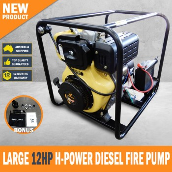 DIESEL WATER PUMP 12HP HIGH VOLUME FIRE FIGHTING PUMP ELECTRIC START