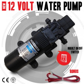 NEW 12V Water Pump 4.6Lpm Self-Priming Caravan Camping Boat, Inc w/proof Switch