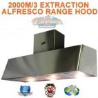 1500 COMMERCIAL ALFRESCO CANOPY INDOOR RANGEHOOD 2000M EXTRACTION
