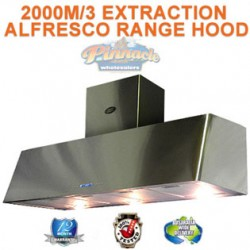 1500 COMMERCIAL ALFRESCO CANOPY INDOOR RANGEHOOD 2000M EXTRACTION
