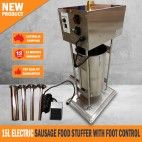 15L ELECTRIC SAUSAGE FILLER STUFFER FOOD VERTICAL WITH FOOT CONTROL
