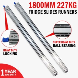 1800MM 227kg Drawer Slides Fridge Runners Heavy Duty 4X4 4WD Ball Bearing