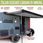 NEW Caravan Awning Roll Out 2.7m x 2m NEW Italian Designed Aluminium Alloy