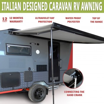 NEW Caravan Awning Roll Out 2.7m x 2m NEW Italian Designed Aluminium Alloy