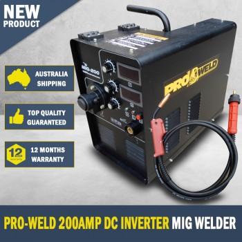 Pro-Weld 200Amp DC Inverter Mig Welder 15kg Roll Industrial