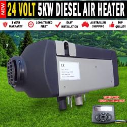 24 Volt Planar 5KW Diesel Air Heater Caravan, Motorhome, RV Bus Truck, Jayco