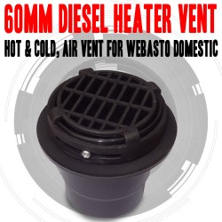 60mm Heater Vent Hot & Cold, Air Vent For Diesel Heater, Webasto, Dometic