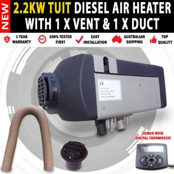 Planer 12v 2KW Caravan, Camping Motor Home Diesel Heater 1 x FlatVent & 1 x Duct