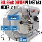 NEW 30 Litre 3-Speed Food Mixer /Dough Mixer /Planetary Mixer S/S Bowl B30B