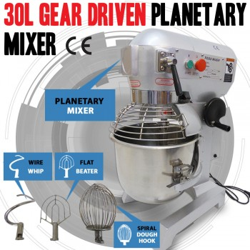 NEW 30 Litre 3-Speed Food Mixer /Dough Mixer /Planetary Mixer S/S Bowl B30B