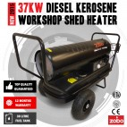 NEW Industrial 37KW 125,000 BTU Diesel / Kerosene Workshop Shed Heater