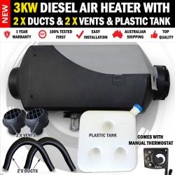 3KW Belief Caravan Diesel Air Heater Vents, Ducts, Plastic Tank Motorhome