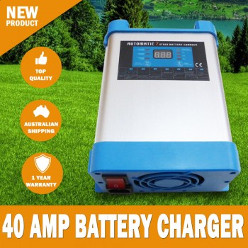 7 Stage 40 amp Fully Automatic Caravan Battery Charger Suits 40 to 400Ah