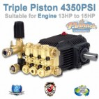 HIGH PRESSURE 4350 PSI TRIPLE PISTON WASHER WATER PUMP SHAFT