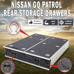 Nissan GQ Patrol Rear Steel Frame Storage Drawers Fridge Slide