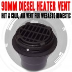 90mm Heater Vent Hot & Cold, Air Vent For Diesel Heater Webasto, Dometic