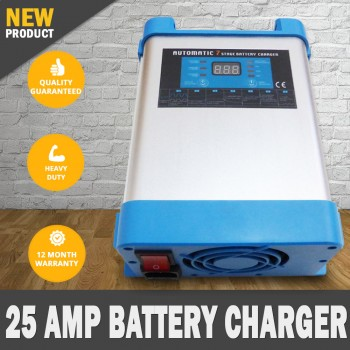 7 Stage 25 amp 24v Fully Automatic Caravan Battery Charger Suits 40 to 600Ah