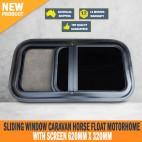 New Sliding Window Caravan Horse Float Motorhome with Screen 620mm x 320mm