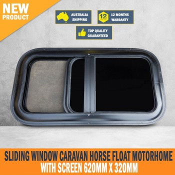 New Sliding Window Caravan Horse Float Motorhome with Screen 620mm x 320mm