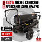 Industrial 63KW 215,000 BTU Diesel / Kerosene Workshop Shed Heater