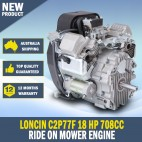 Loncin LC2P77F 18 Hp 708cc Ride On Mower Vertical Shaft Engine Electric Star