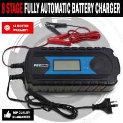 8 Stage Fully Automatic 7.2A Battery Charger Agm Gel, Lead Caravan Rv 150Ah