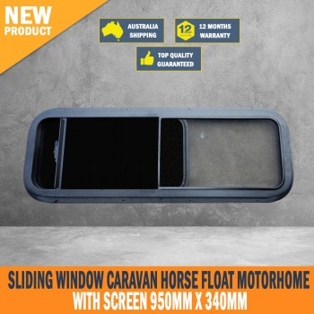New Sliding Window Caravan Horse Float Motorhome with Screen 950mm x 340mm