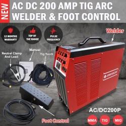 MITECH AC/DC 200P TIG ARC Pulse Aluminium Welder Machine And Foot Pedal