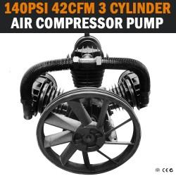 42CFM 3 CYLINDER FULL CAST IRON 140PSI AIR COMPRESSOR PUMP