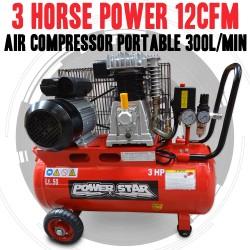 Belt Driven 3 horse power 12CFM AirCompressor Portable 300L