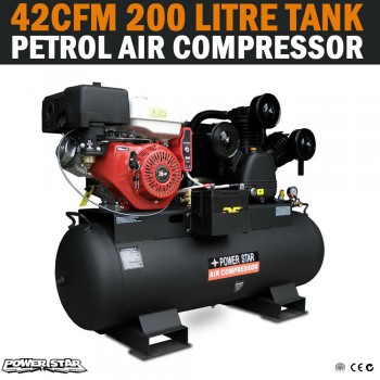HUGE 150 Lt PETROL AIR COMPRESSOR TANK 42CFM