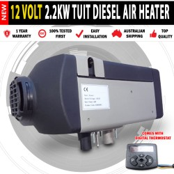 12 VOLT, 2Kw DIESEL AIR HEATER Will Heat 44Sq Metres