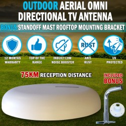 12Volt Directional TV Antenna Outdoor Aerial booster DAB UHF/VHF Caravan RV