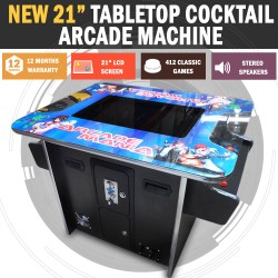 """21"""" Arcade Machine Tabletop Upright Cocktail Video Game Pinball Pool"""
