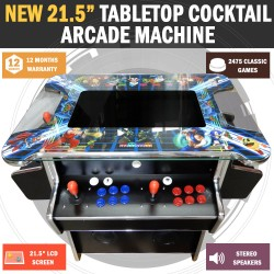 "21"" Arcade Machine Tabletop Upright Cocktail Video Game With 1033 Games"