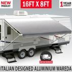 16FT Caravan Awning Roll Out 16FT X 8FT NEW Italian Designed Aluminium Wareda