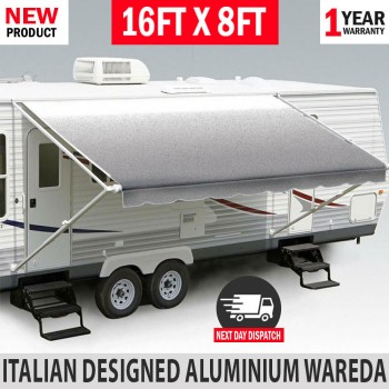 16FT Caravan Awning Roll Out 16FT X 8FT NEW Italian Designed Aluminium Wareda
