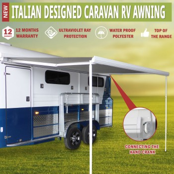 Caravan Awning Roll Out 3.0m x 2.5m NEW Italian Designed Aluminium Wareda