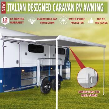 Caravan Awning Roll Out 2.5m x 2.0m Italian Designed Aluminium Wareda