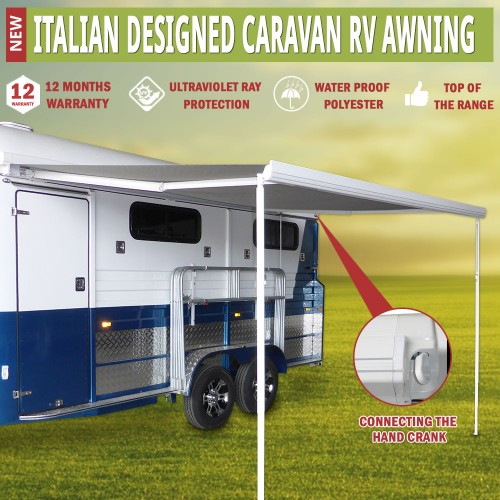 Caravan Awning Roll Out 2.5m x 2.0m Italian Designed ...