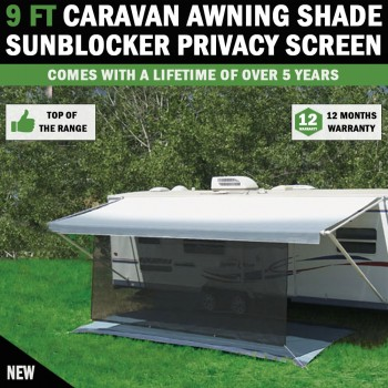 9 FT Caravan Awning Shade Sun Blocker Privacy Screen Suit Fits All